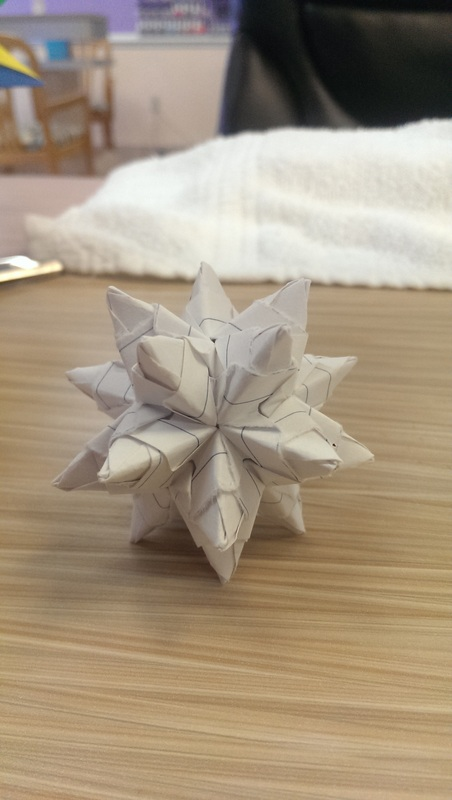Modular Origami - spiky balls and stellated polyhedra models ... | 800x452